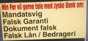 https://facebook.com/JyskeBank.dk/ Sådan snød jyske bank kunde for millioner Jyske Bank lyver over for kunde, i over 8 år om falsk lån, som jyske bank selv har lavet en Swap til. Kunden der fik en hjernenblødning i 2009 bliver af jyske bank fortalt i 2010 at han har hjemtaget et lån i 2008 og lavet en Swap til lånet, jyske bank oplyser herefter kunden i 2012 at lånet nu er lavet om. altsammen er løgn. Her 18/9 2016 har jyske bank stadig ikke givet indrømmelser, alså de forsætter med at lyve for kunden sålænge de kan. Se bilag før sagen kommer frem i retten. Såfremt jyske bank ikke ved svig har bedraget kunden siden 2008 Og jyske bank har tjent millioner og kunden har tabt millioner på dette bedrageri opfordre vi jyske bank til at fremlægge bevis på at kunden har hjemtaget lånet og godkendt swappen som er lavet 16/7 2008 jyske bank ved godt hvad vi taler om. De spørgsmål om lånet og Swap er jyske bank opfordret at besvare mindst 40 gange Vi prøver igen, og deler faktuelle oplysninger her for det ene forhold om overtrædelse af straffeloven Kunde taber som følge af jyske Banks løgn, over 20 millioner efter svig og rådgivning Jyske Bank, banken anklages nu for Svig og bedrageri. Sagen kort fortalt: Se jyske bank og deres Bestyrelses medlems anmeldelse https://www.trustpilot.com/reviews/572a4fc50000ff000957a1f8 Jyske Bank https://www.trustpilot.com/reviews/57b97c8f0000ff00097e5626. Lund Elmer Sandager Jyske Bank kræver herefter kunden sælger alt som hus og ejendom og banken har taget pant i alle kundens værdier, de vil kører kunden helt ned og plukke ham. Jyske bank har stadig ikke udleveret de krævet salgs fuldmagter som banken krævede grundet den falske Swap Skal der være fest i jyske bank, spøger den bedraget kunde i jyske bank Her kommer fortællinger der bør være forståeligt ellers spørg gerne, Sagen deles op i punkter da sagens omfang er stort og mange forhold i straffeloven syntes at være overtrådt.