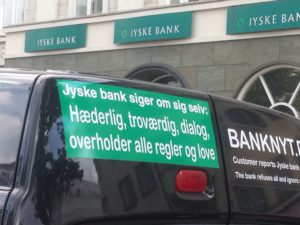 Jyske bank er hæderlige og ærlige ? Grine altså :-) kom gratis på forsiden