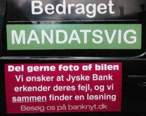 Jyske bank og det løgnagtig advokat firma Lund Elmer Sandager vil ikke svare på spørgsmål i bedrageri sag, svig tyveri, mandatsvig. Dokument falsk